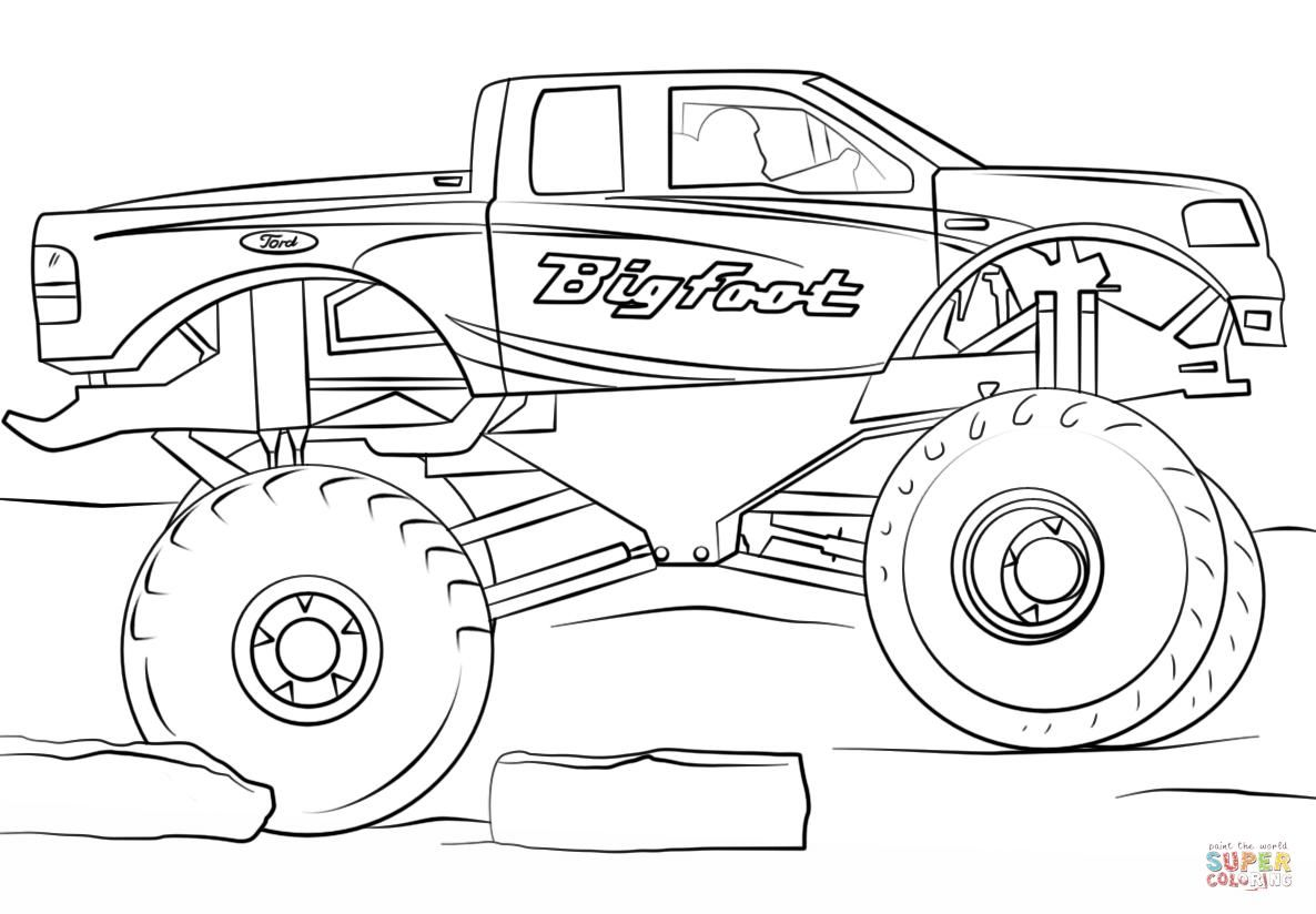 18 Coloring Page Monster Truck Monster Truck Coloring Pages Truck Coloring Pages Cars Coloring Pages
