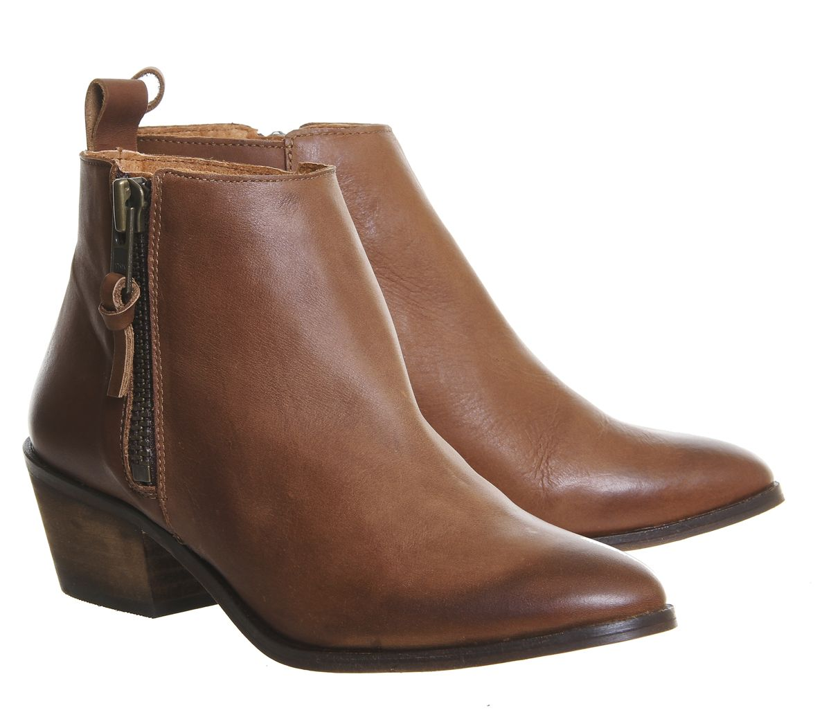 c96dee5c194 Buy Tan Leather Office Imposter Side Zip Ankle Boots from OFFICE.co ...