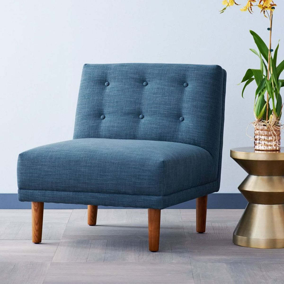 West Elm Chairs: Rounded Retro Armless Chair