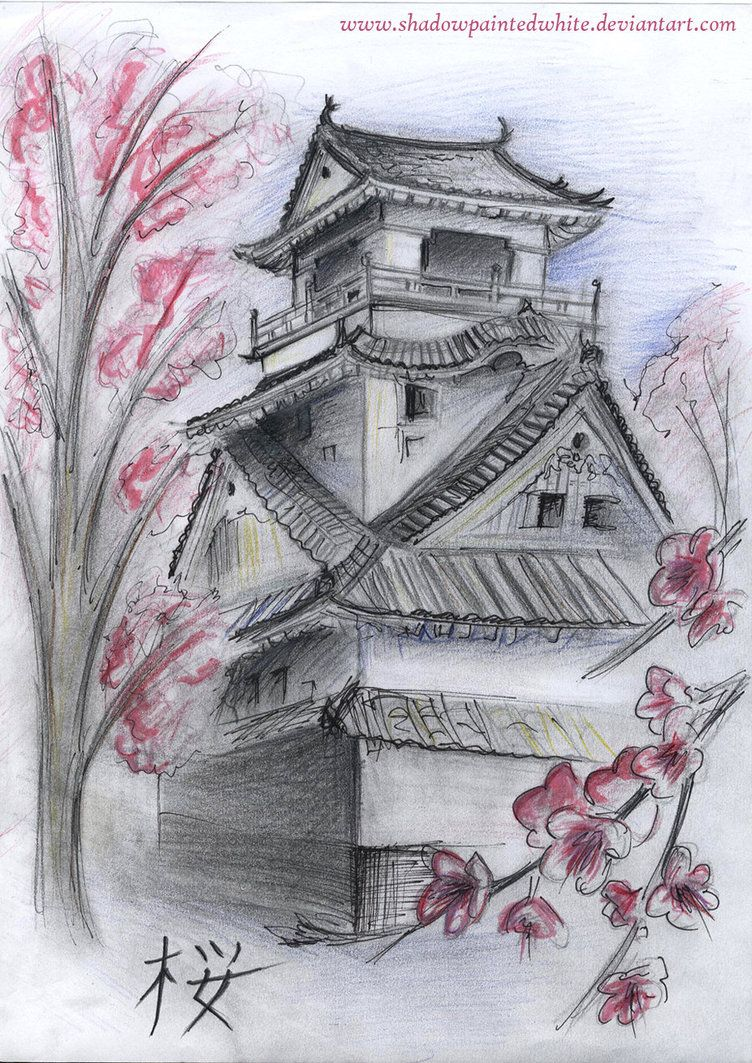 Japanese House By Shadowpaintedwhite On Deviantart Japanese Tattoo Japanese Tattoo Symbols Japanese Tattoo Designs