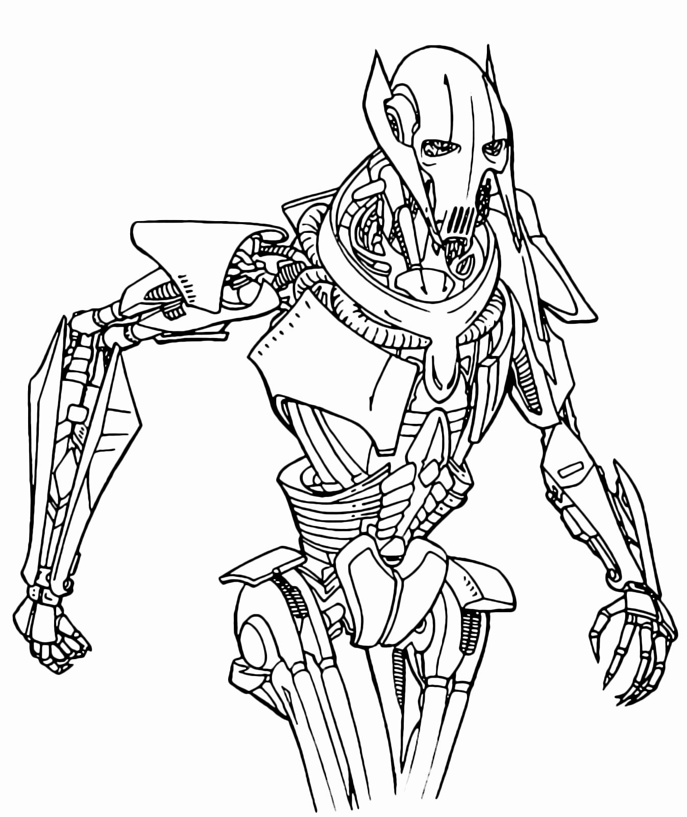General Grievous Coloring Page Beautiful Star Wars General Grievous Is Approaching Menacingly Candy Coloring Pages Coloring Pages Monster Coloring Pages