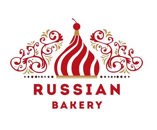 russian-bakery-logo-design | Logo | Pinterest | Bakery logo design ...