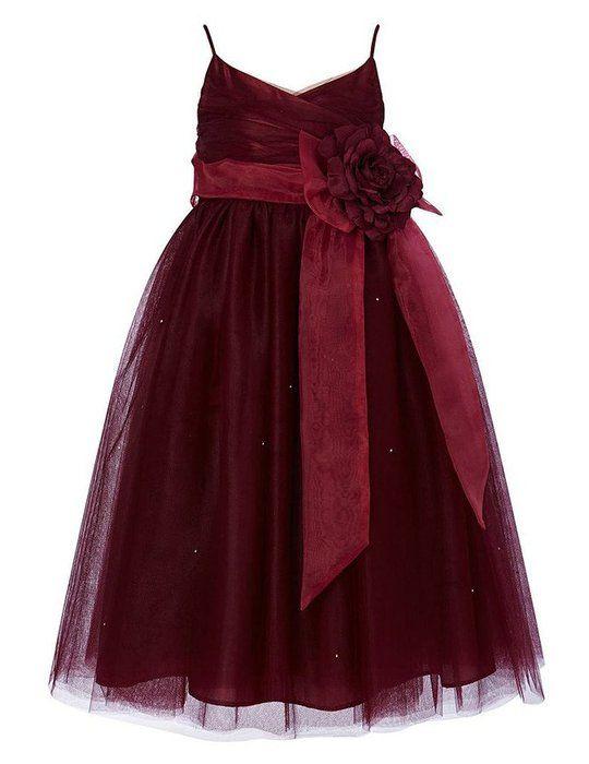 86d917fa635 Cdress Straps Tulle Flower Girl Dress Junior Bridesmaids Dress Kids ...