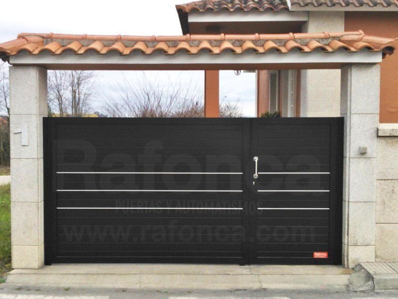 Cancelas Correderas Y Batientes Cancelas Corredera Y Batientes Rafonca Marquesinas De Casas Puertas De Garage Modernas Puertas De Garage