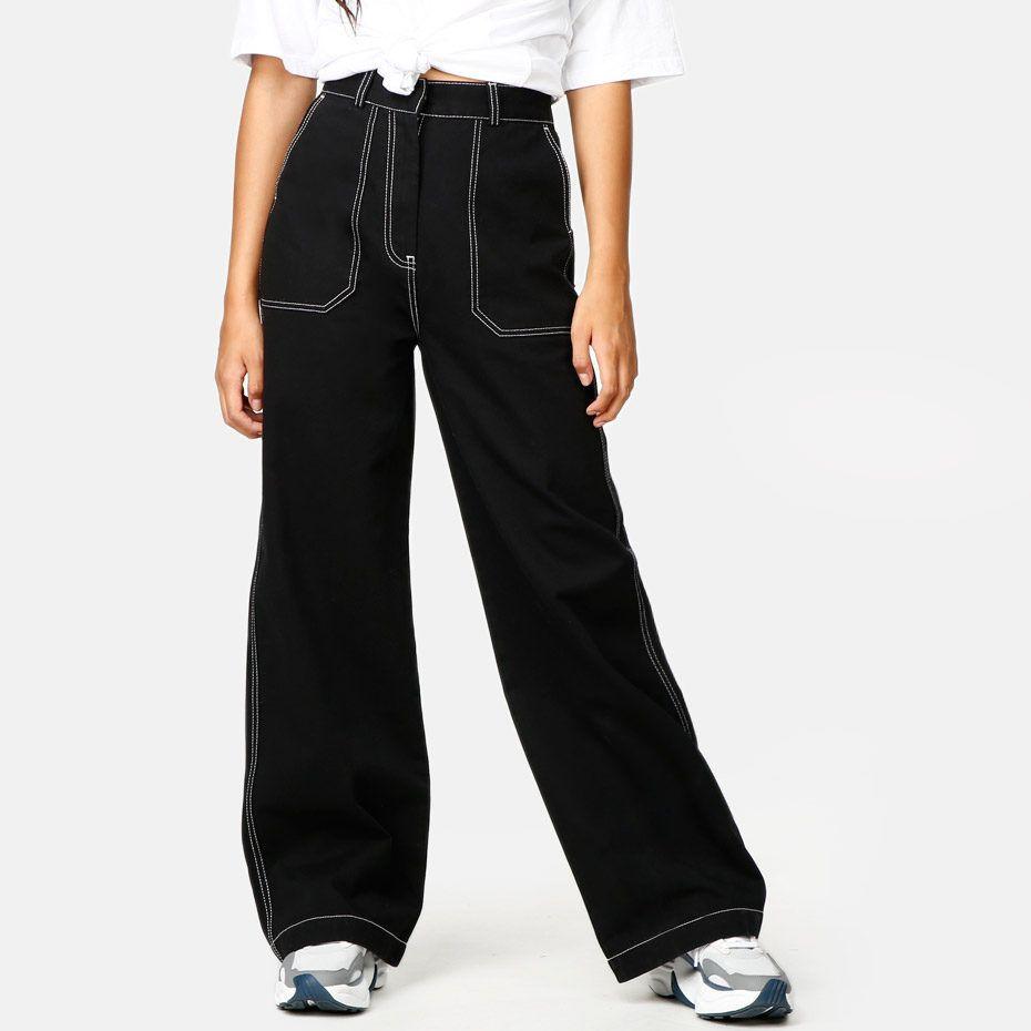 JUNKYARD Bukse Super | Bukser, Bomull, Black