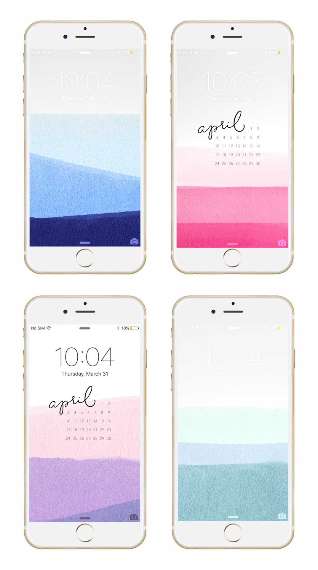 Spruce up your phone or desktop with a free April dip dye