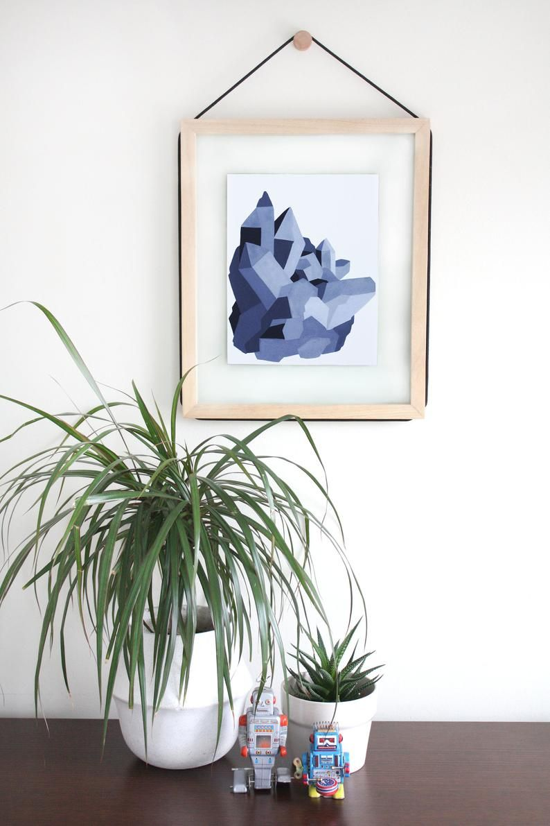 Shades Of Grey Smokey Quartz Wall Art Black Crystal Print Modern Crystal Art Monochromatic Crystal Geometric Decor Crystals Print Geometric Decor Eclectic Gallery Wall