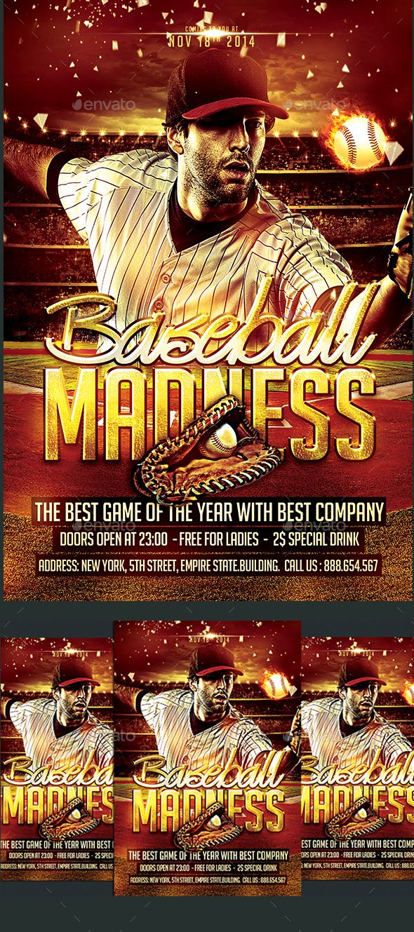 Baseball Flyer By Dsgraphicdesign  With  Bleed Cmyk  Dpi