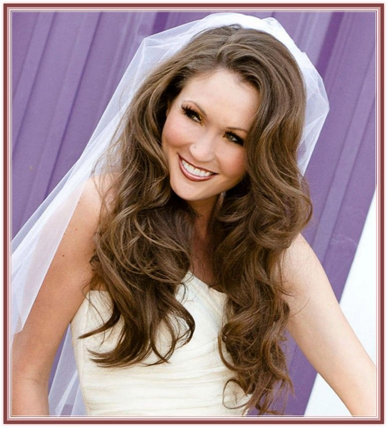 home wedding hairstyle wedding down hairstyles for long ...