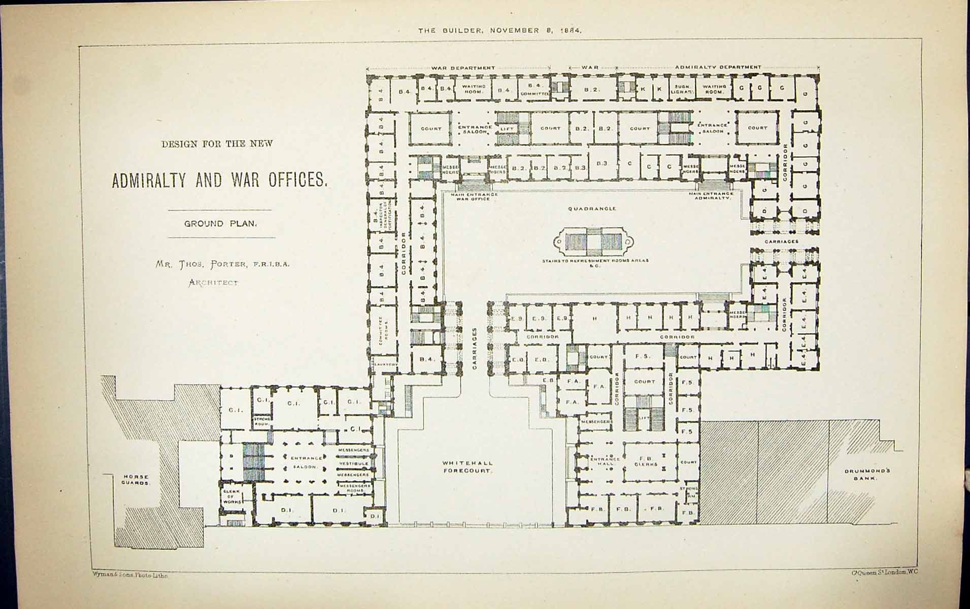 1884 u2013 new admiralty u0026 war offices whitehall london google