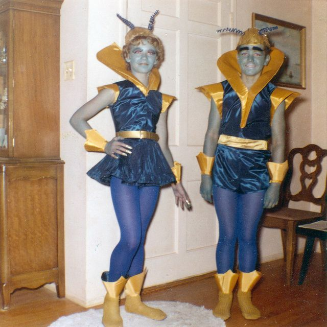 Martian Costumes Halloween 1960 #area51partyoutfit