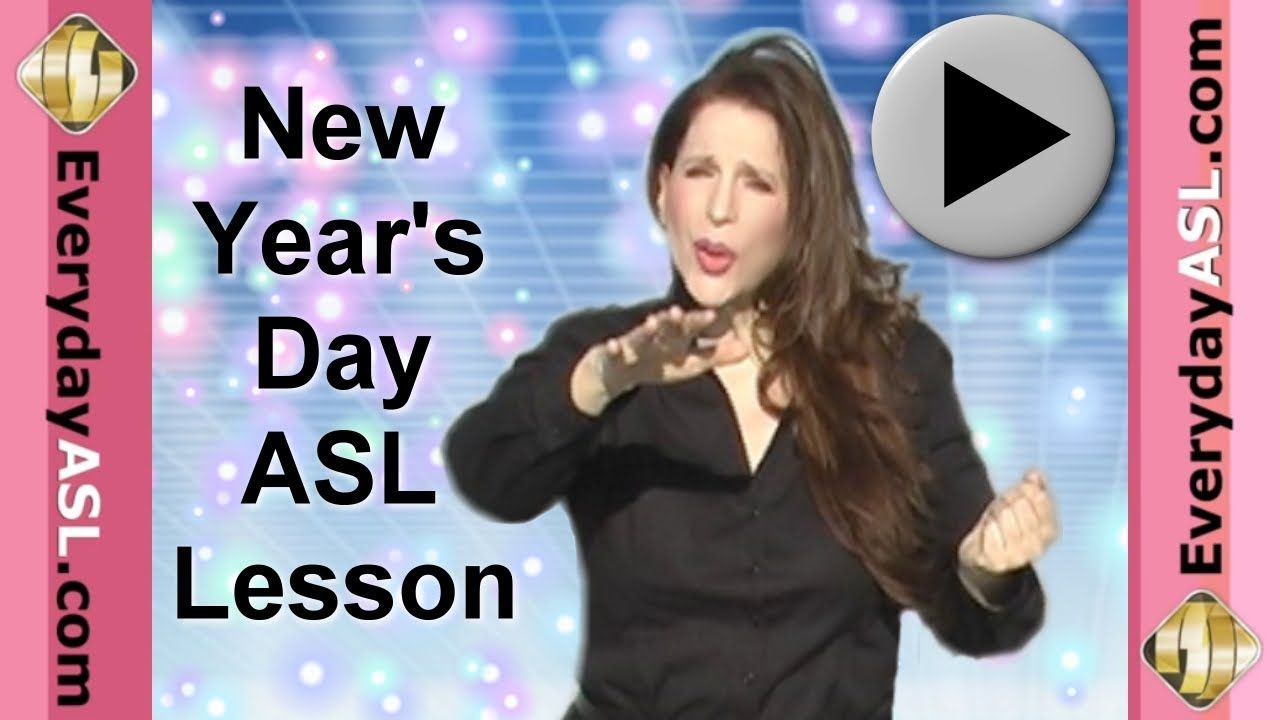 Happy New Year's Day Vocabulary in American Sign Language