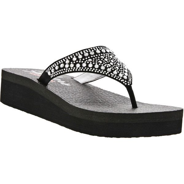 c1e29054d80d Skechers Bindu Embellished Flip Flops (47 AUD) ❤ liked on Polyvore  featuring shoes