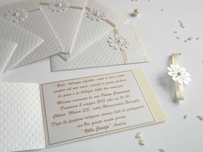 Partecipazioni Eleganti Per Matrimonio E Inviti Per Cresima Comunione O Battesimo Paperblog Comunione Matrimonio Partecipazione