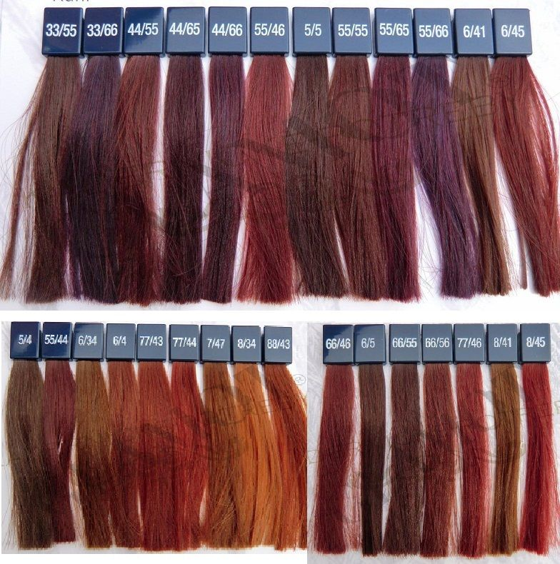 Wella koleston perfect vibrant 784 790 haare pinterest cheveux roux et couleurs - Couleur inoa nuancier ...