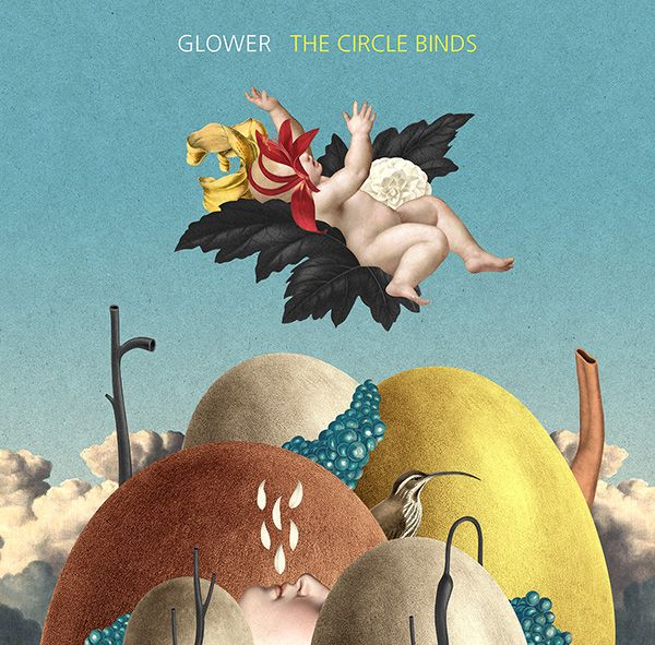 Glower - The Circle Binds (2015) (debut album cover) by Randy Mora