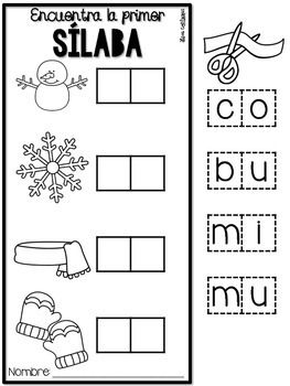 Enero {Math and Literacy Print and Go Centers in Spanish