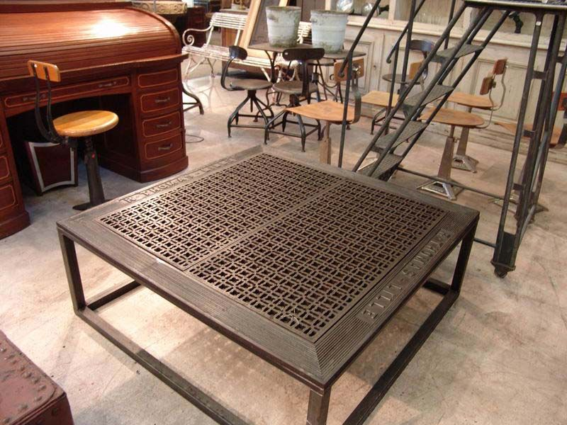 an old iron floor grate becomes a fabulous coffee-table $245