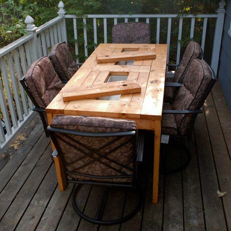 Gartentisch selber bauen - Anleitung - DIY, Garten, Haus  Garten, Möbel