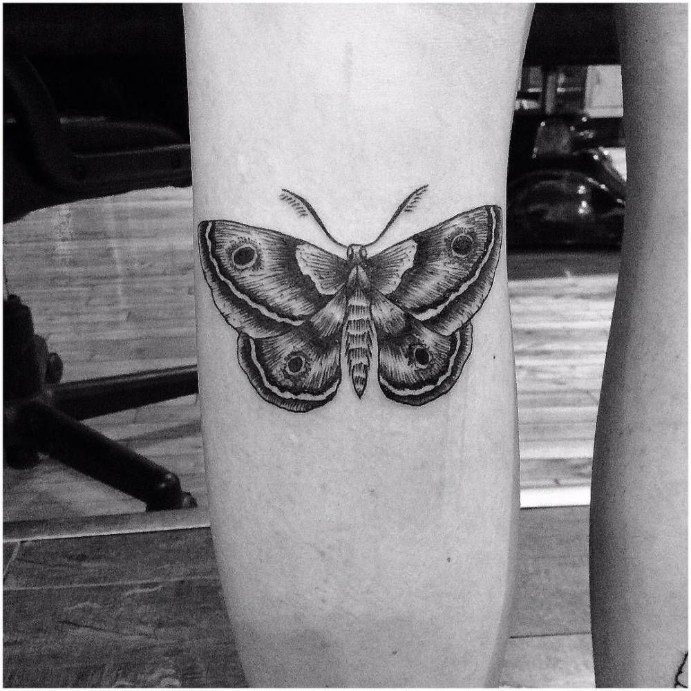 The o jays butterfly tattoos and clothes on pinterest - Engraving Style Butterfly Tattoo On The Left Calf