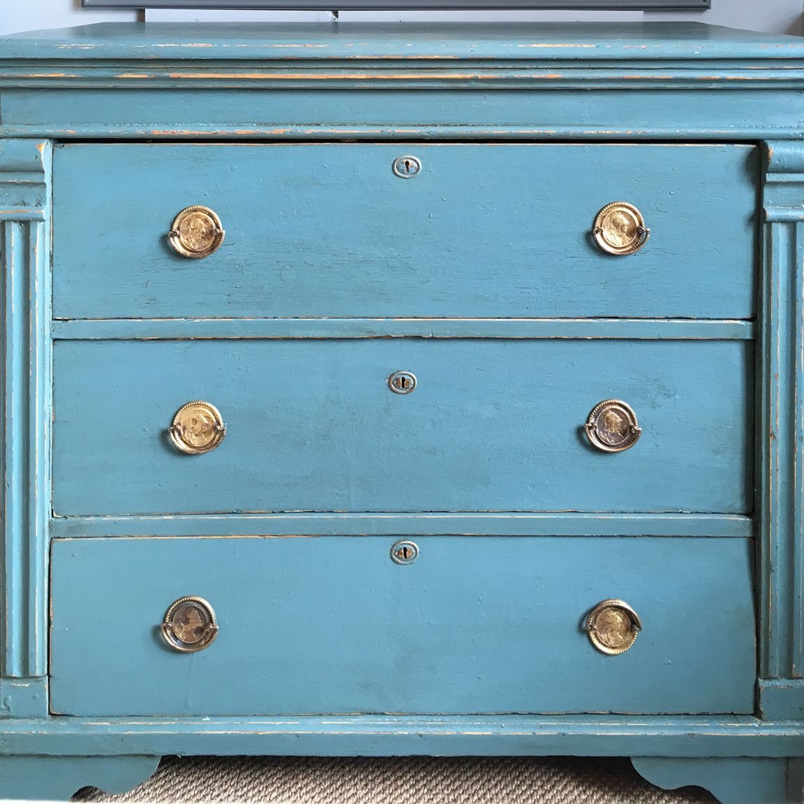 Best Antique Chest Of Drawers Painted Teal In 2020 Small 400 x 300