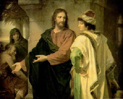 Christ and the rich young ruler - Heinrich Hoffman