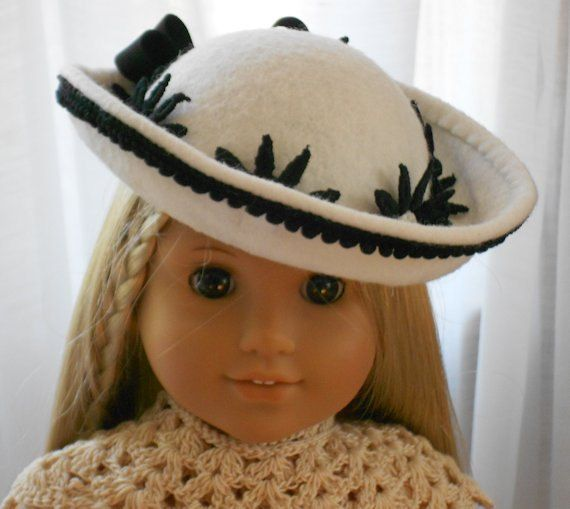 American Girl Doll Clothes - Doll Hat - Saucy Winter Sailor #dollhats