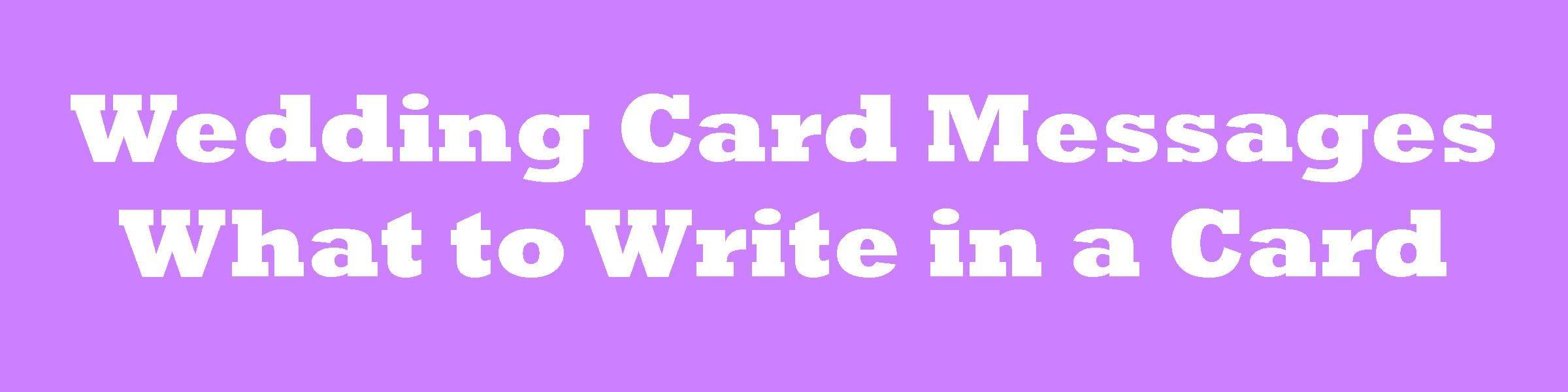 how to write a wedding wish card