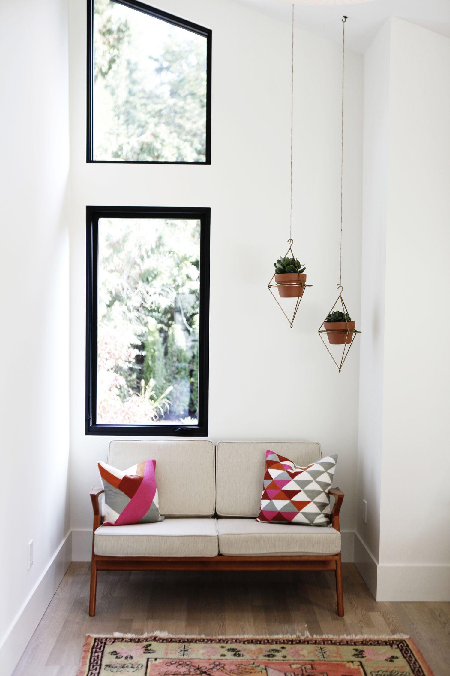 Scandinavian Modern Midcentury Hanging Planter Mid