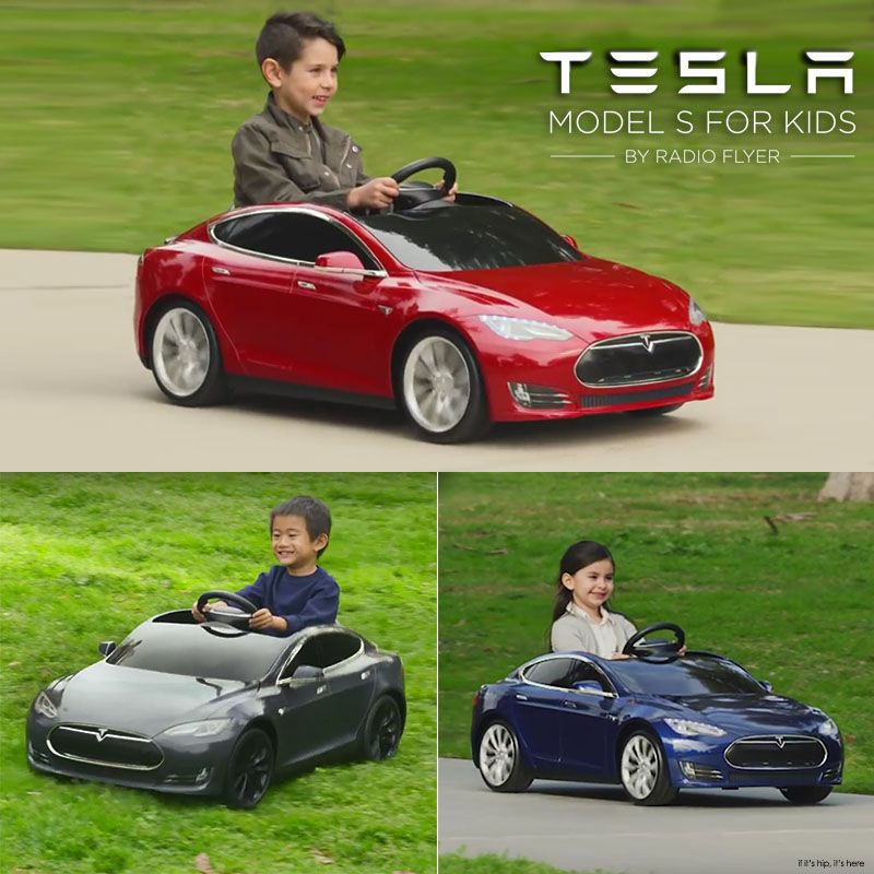 Radio Flyer And Tesla Launch A Miniature S Model Rechargeable Ride On Toy For Kids