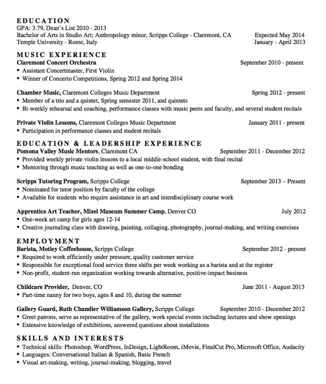 Sample Chamber Music Resume Examples Resume Cv Chamber Music Resume Examples Resume