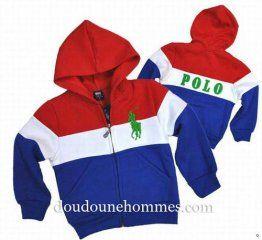 hoodies ralph lauren pas cher enfant rayures bleu   Ralph Lauren ... b80de3d64ca6