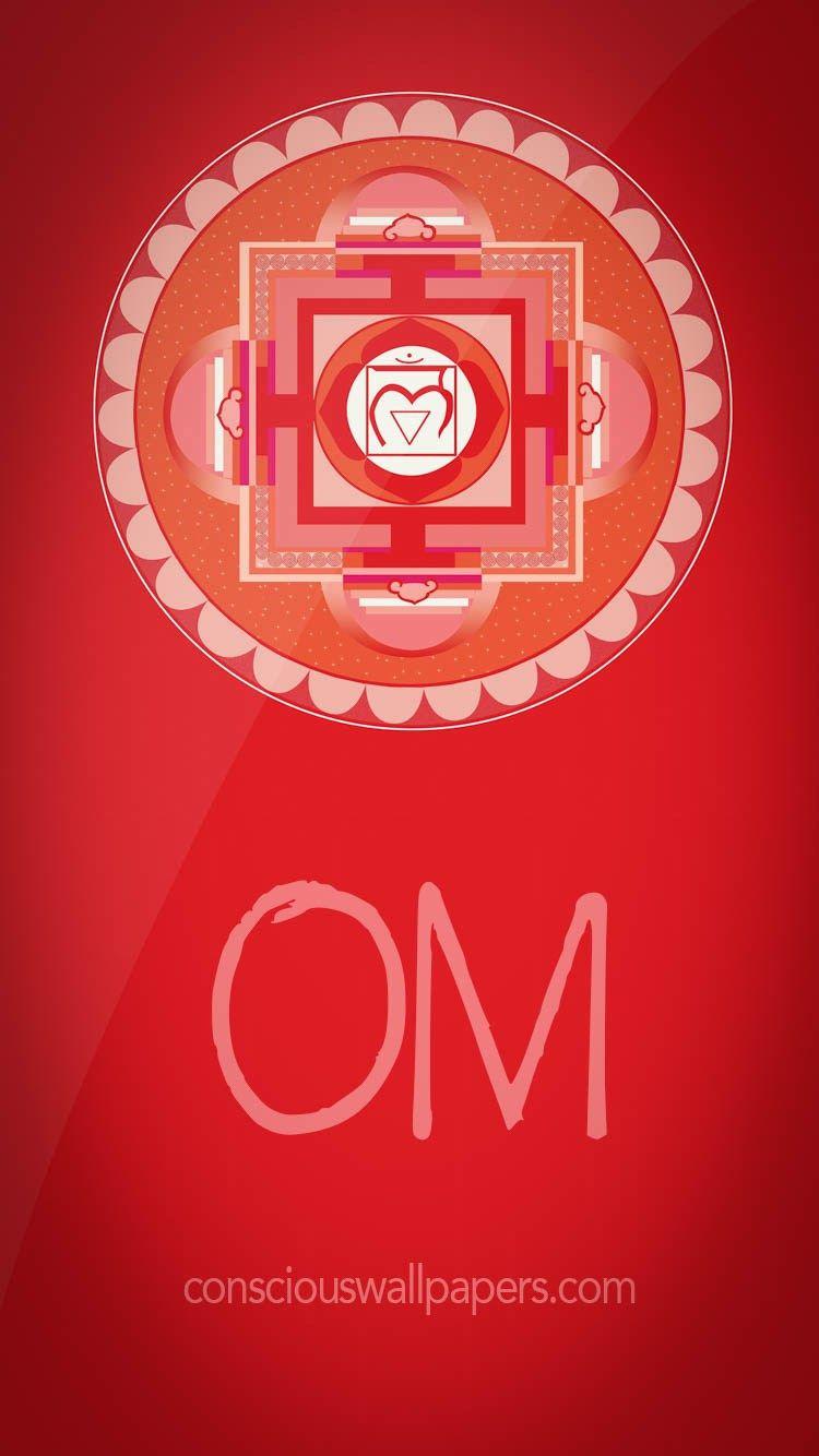 Om Red Chakra Mobile Wallpapers Pinterest Mobile Wallpaper