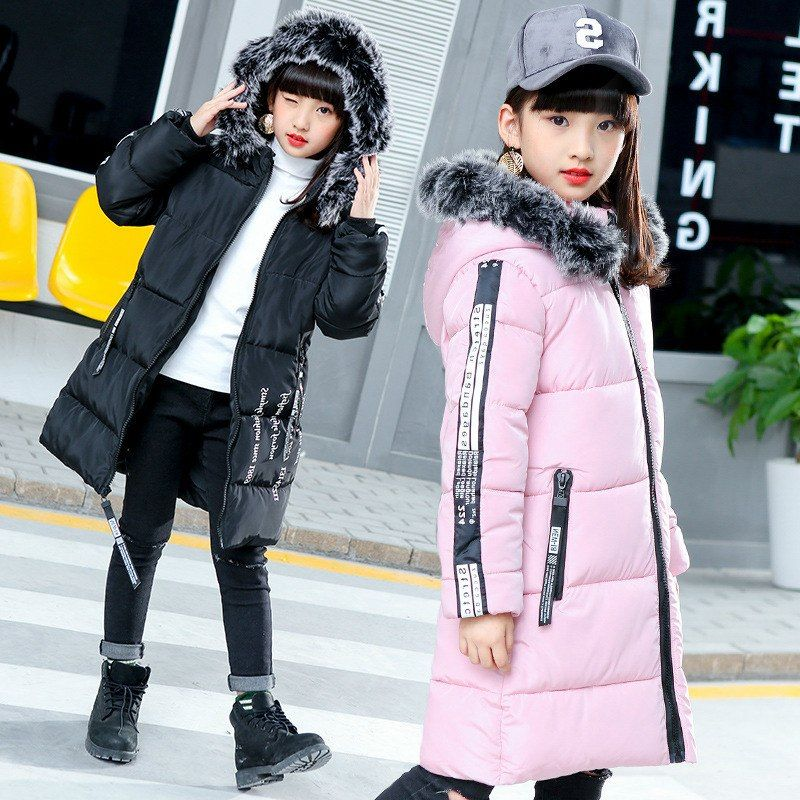 81bcfb7a1 2018 Girls Winter Coat Korean Girls Coats   Jackets For Girls Long ...