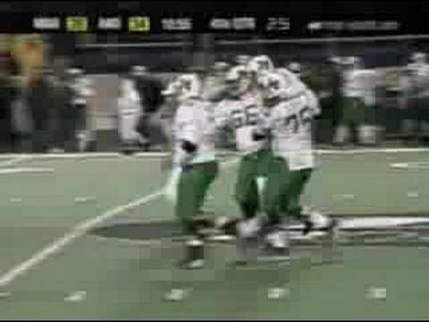 Marshall Herd Qb Byron Leftwich Carried Down The Field Marshall Thundering Herd Football Marshall Football Marshall Thundering Herd