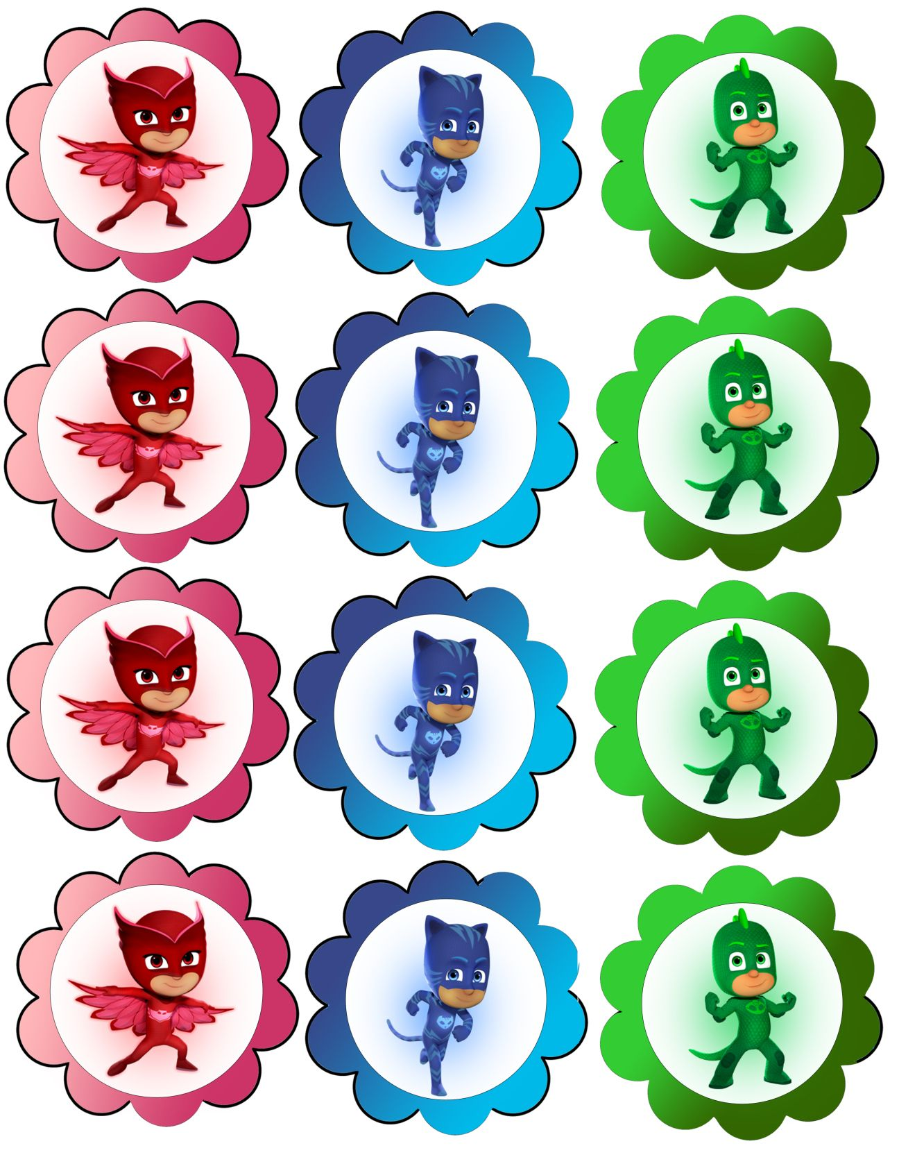 This is a photo of Luscious Pj Masks Free Printables