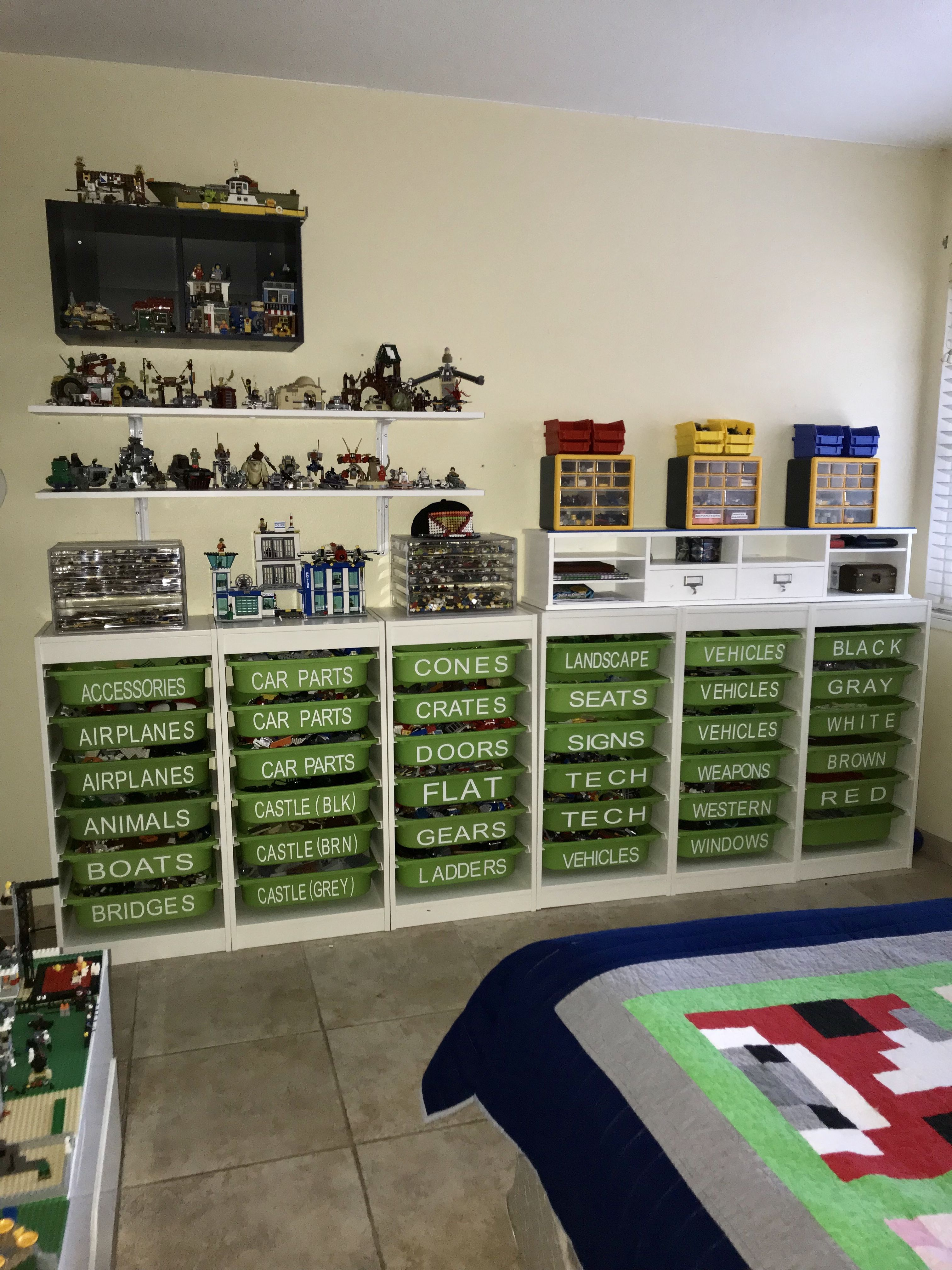 Lego Storage Ikea Trofast With Vinyl Lettering Lego In