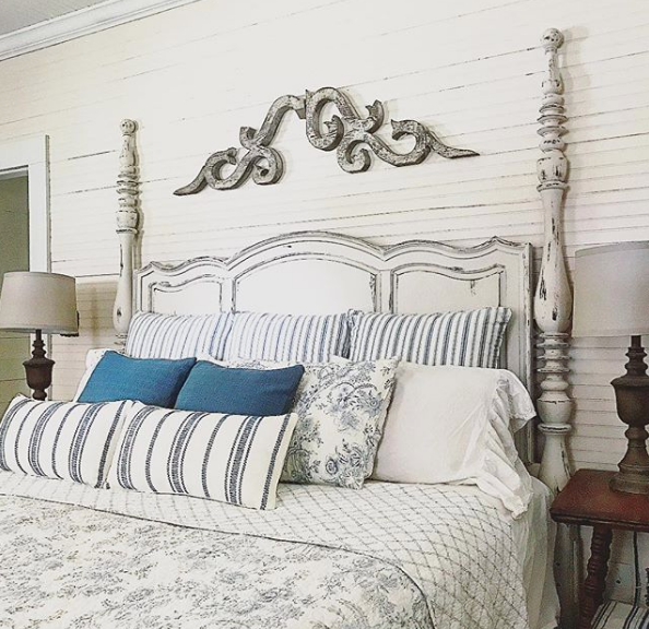 How To Decorate The Wall Space Above Your Arched Headboard