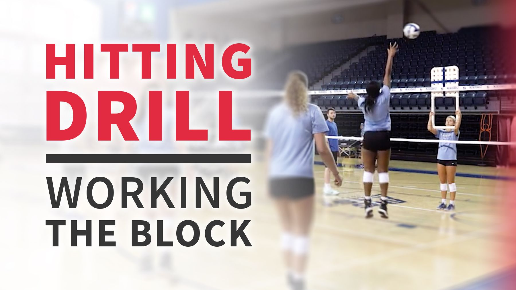 Hitting Drill For Working The Block Coaching Volleyball Volleyball Drills Drill