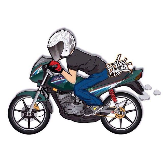 Gambar Animasi Motor Supra