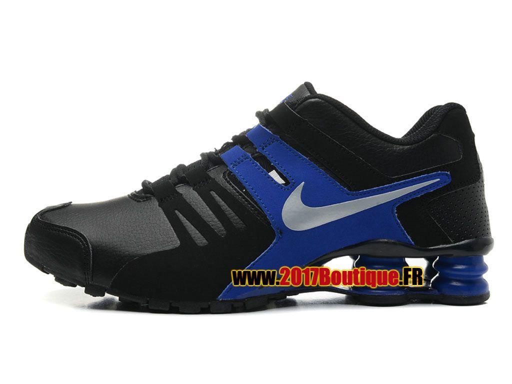 Nike Shox Current Chaussures Nike Sportswear 2017 Boutique Pas Cher Pour Homme  Noir / Bleu