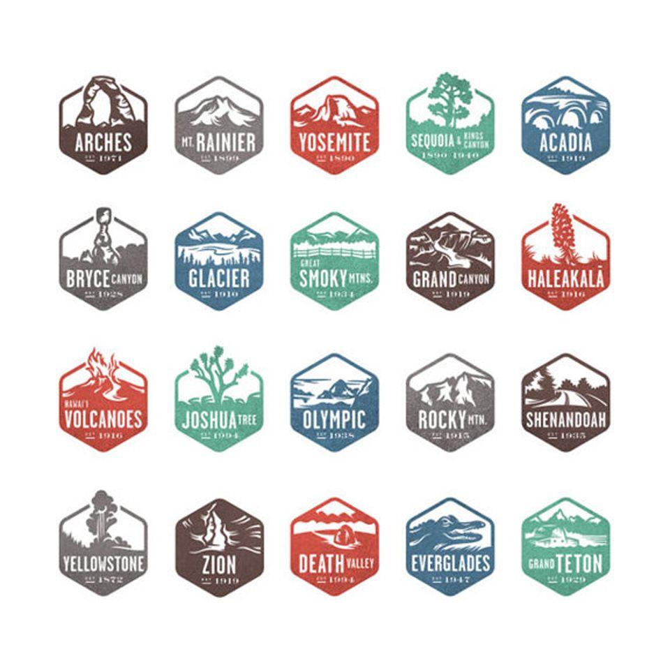 National Parks Badge design, National parks, Icon design