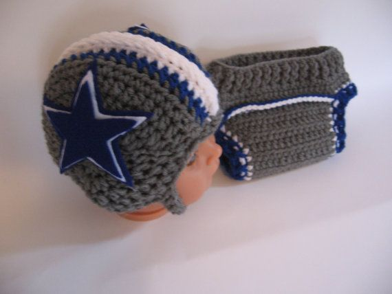 Dallas Cowboys Crochet Football Helmet And Diaper By Aworldcreated
