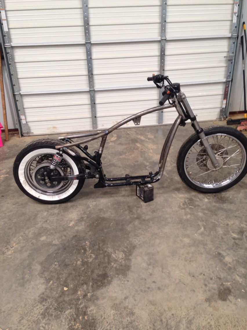 Modified Evo Sportster frame done at \