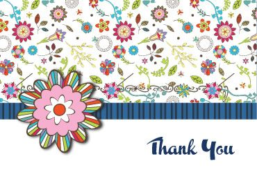 free printable thank you cards two retro flowery online thank you cards for you to print out for free choose from a selection of printable free greeting