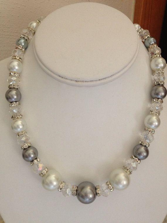 e30fb9e6fa78 Gran perla y collar de Swarovski por karlajophoto en Etsy