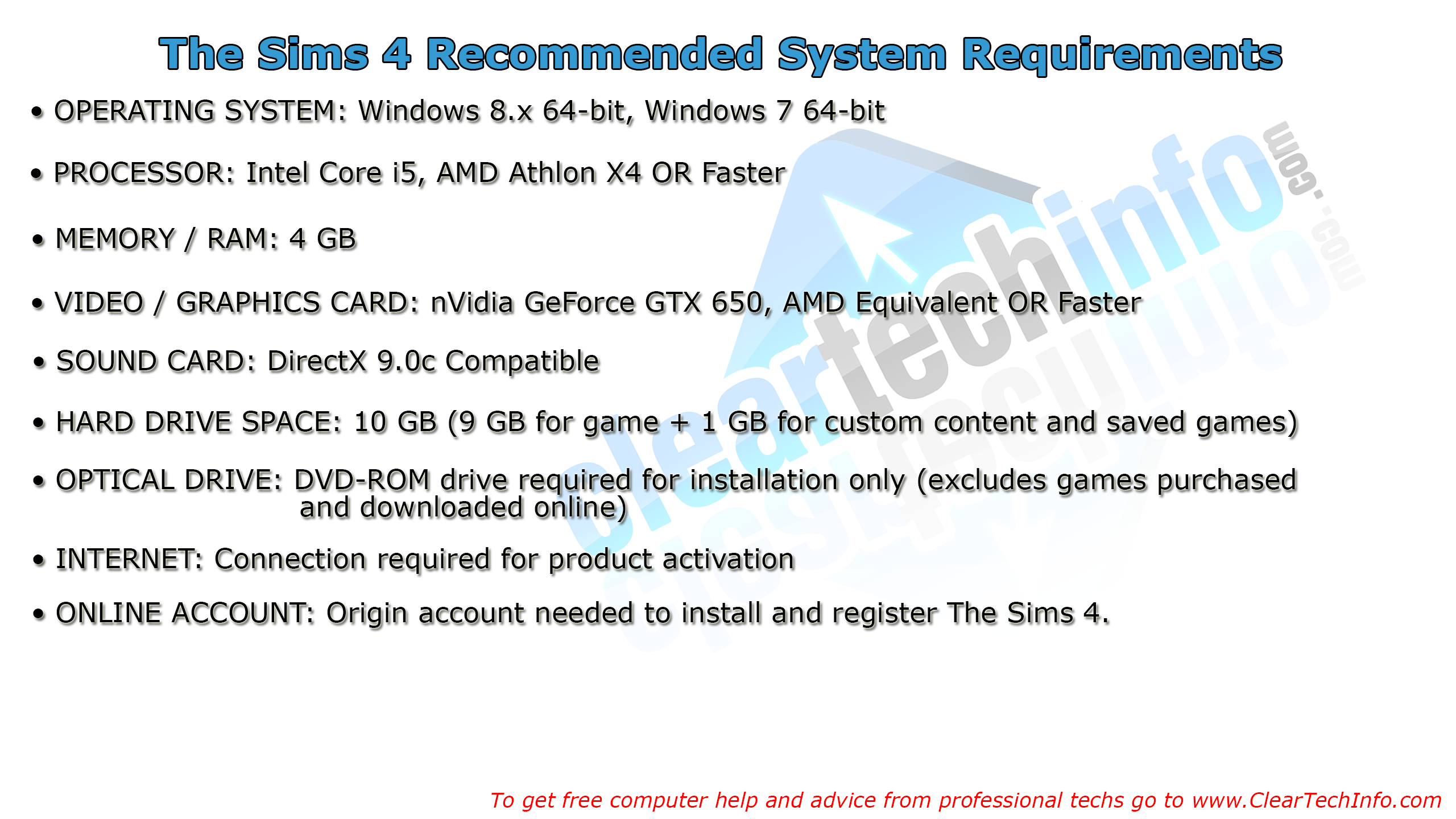 The Sims 4 Recommended System Requirements - Can You Run It | Game ...