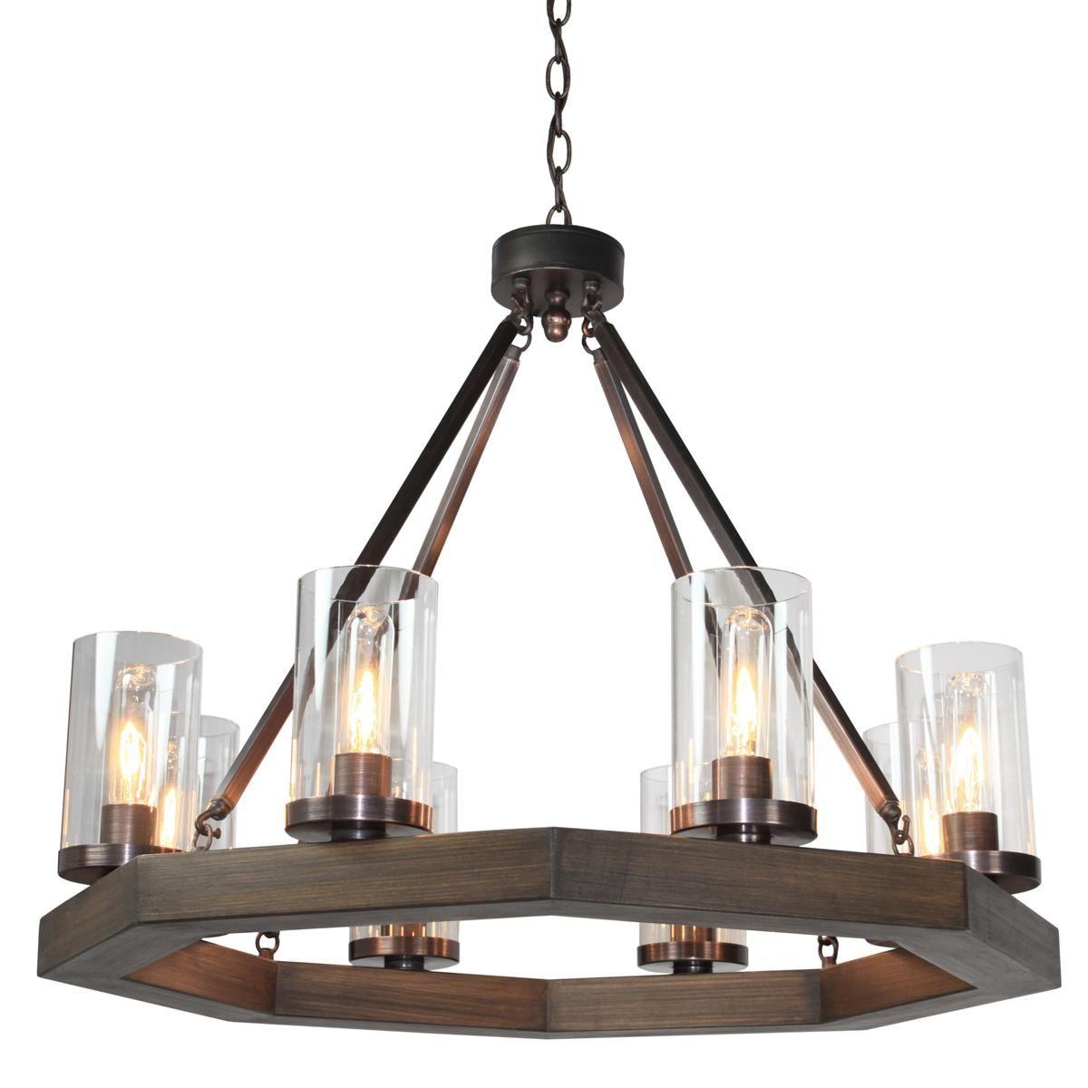 Medieval Modern 8 Light Octagon Chandelier Round Chandelier