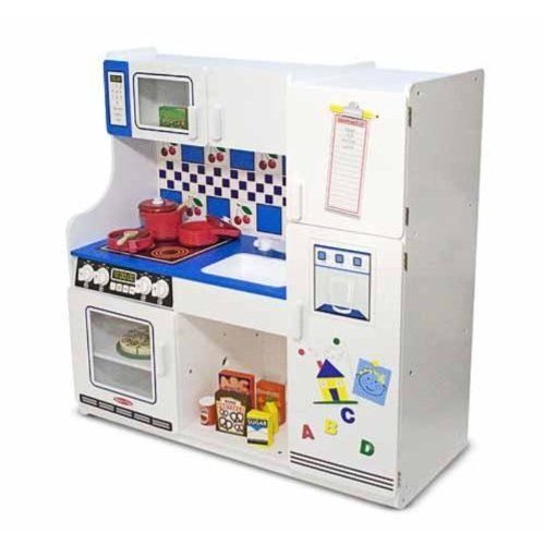 Amazon Com Melissa Doug Classic Deluxe Kitchen Pretend Play Kitchen Childrens Play Kitchen Play Kitchen Accessories