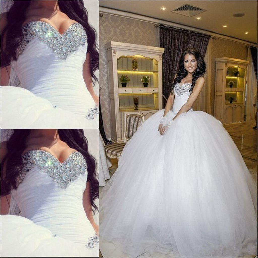 Crystal Ball Gowns Wedding Dresses #dhgatepin | Dream wedding ...